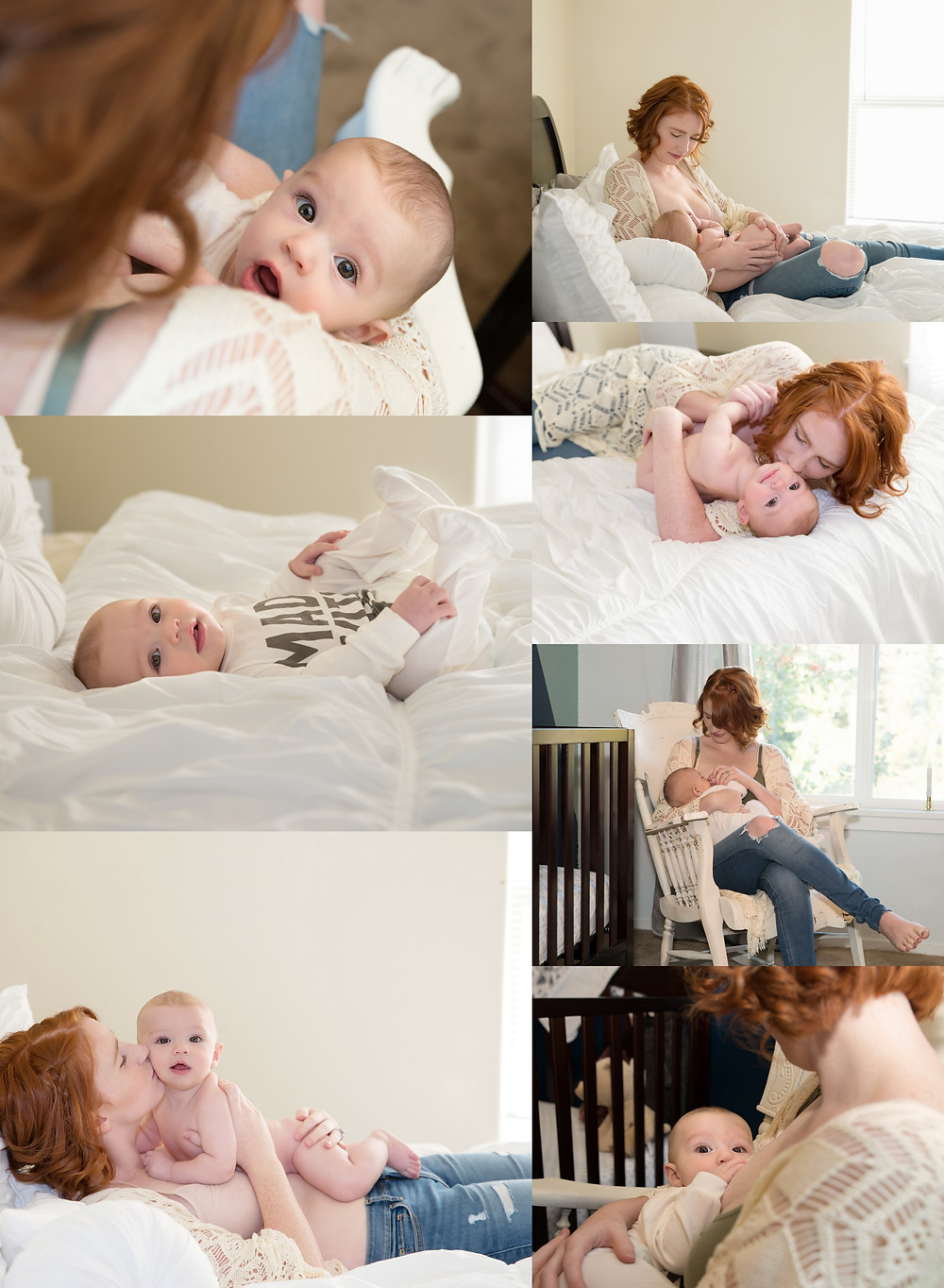 breastfeeding photoshoot, in home session