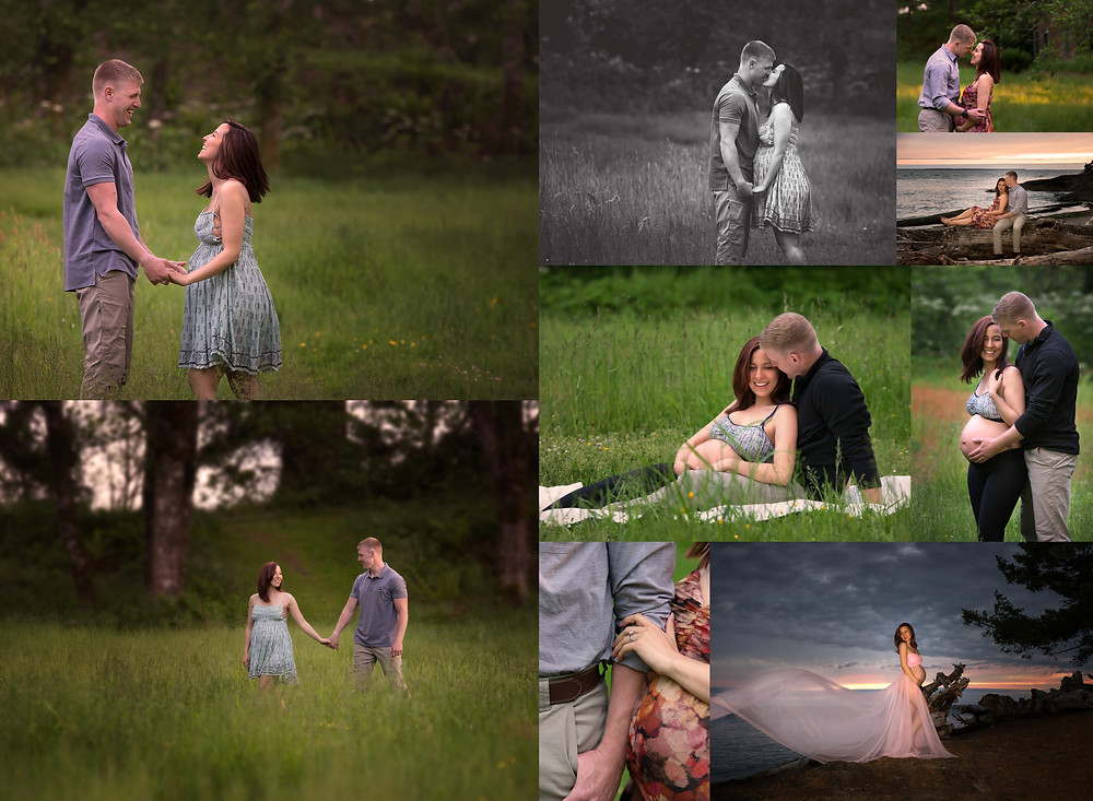 outdoor maternity photo shoot