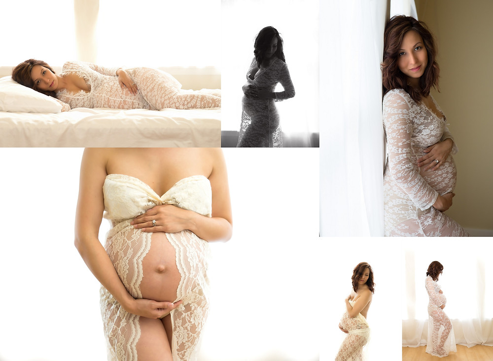 intimate maternity photo shoot