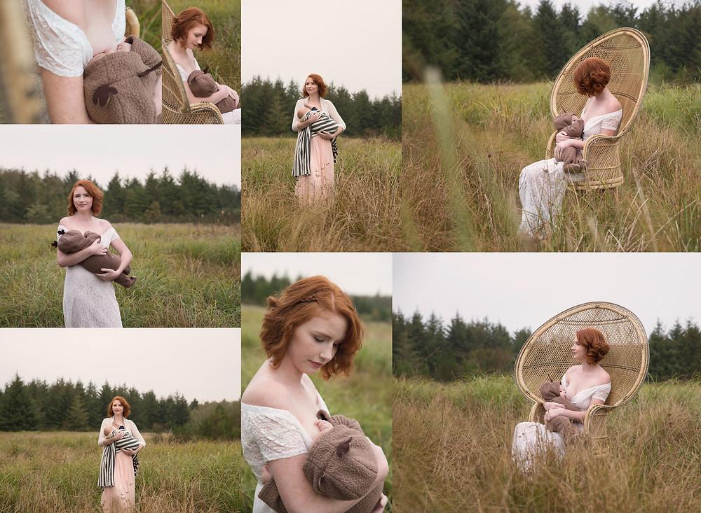 breastfeeding photoshoot, outdoor breastfeeding