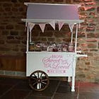 Sweet Cart for Hire at Weddings, Christenings, Birthdays and other events