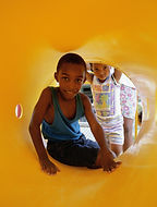 Jouer dans un tunnel
