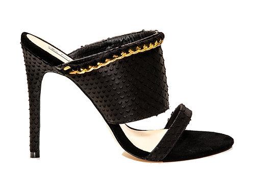 Kadi croc-effect mules