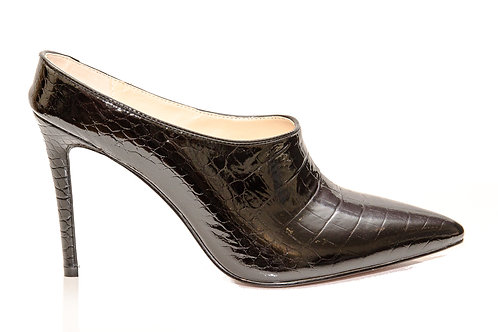 Kate patent croc mules