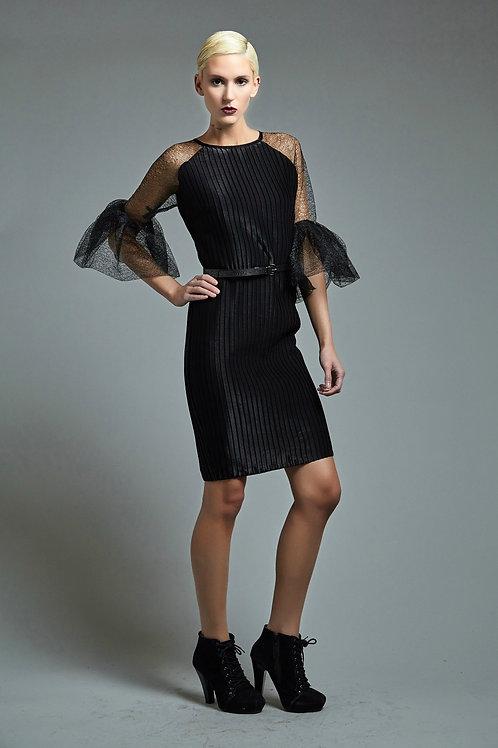 Mesh tulle pleated dress