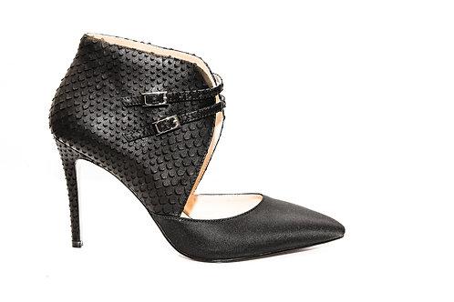 Blanka snake effect satin shoes