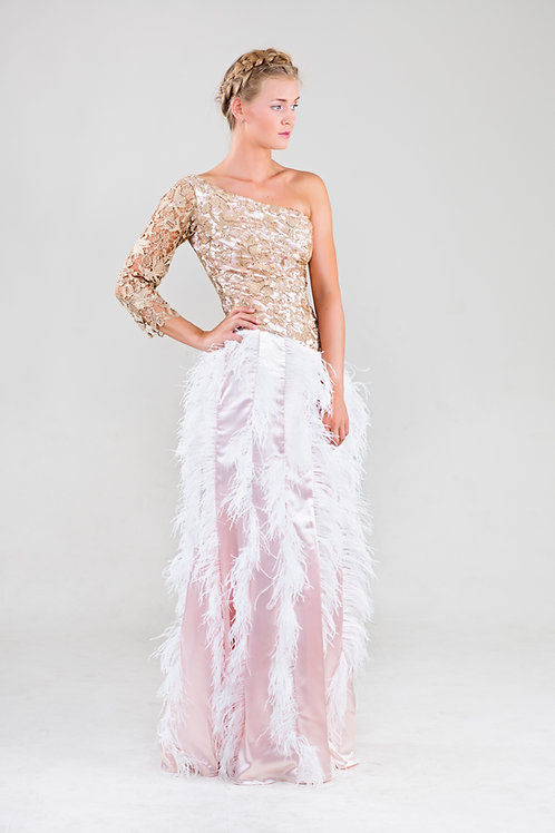 Medley ostrich feather dress