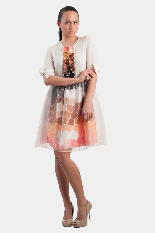 Joana print dress