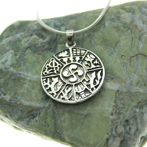 Sacred Symbol - 925 Sterling Silver Pendant