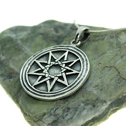 9 Pointed Star - 925 Sterling Silver Pendant