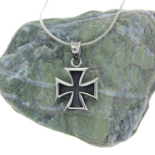 Maltese Cross - 925 Sterling Silver Pendant