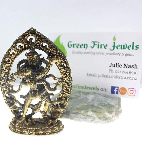 Brass dancing Shiva & Parvati Figurine