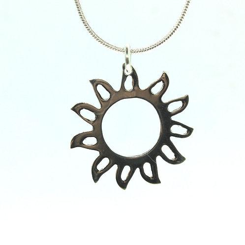 Sun - 925 Sterling Silver Pendant