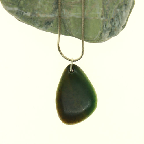 Jade Tear Drop Pendant