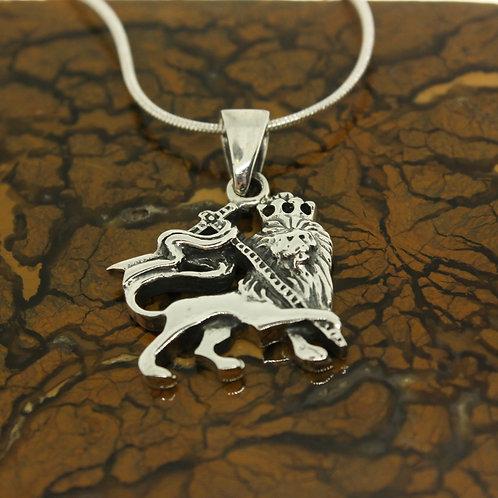 Ethiopian Lion - 925 Sterling Silver Pendant