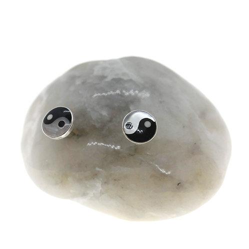 Yin Yang Earrings - 925 Sterling Silver
