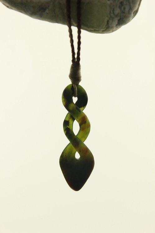 Jade Double Twist Pendant