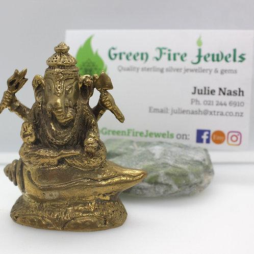 Brass Ganesh Figurine