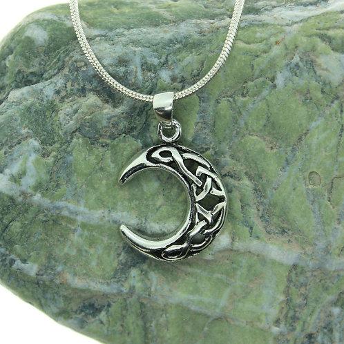 Celtic Moon - 925 Sterling Silver Pendant