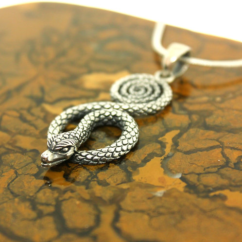 Snake - 925 Sterling Silver Pendant