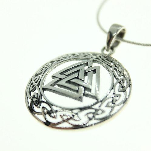 Valknut with Celtic Design - 925 Sterling Silver Pendant