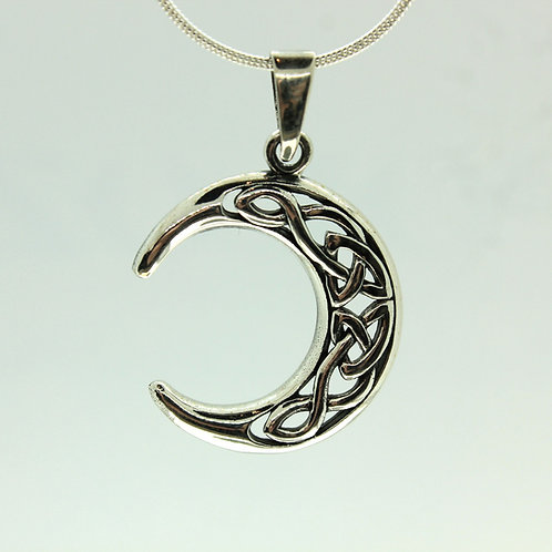 Celtic Moon - 925 Sterling Silver Pendant