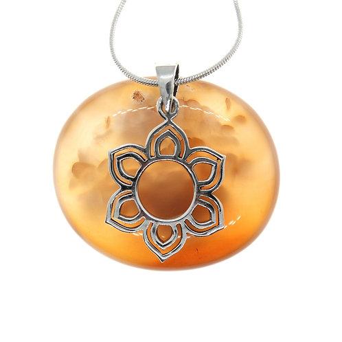 Flower/Sun - 925 Sterling Silver Pendant