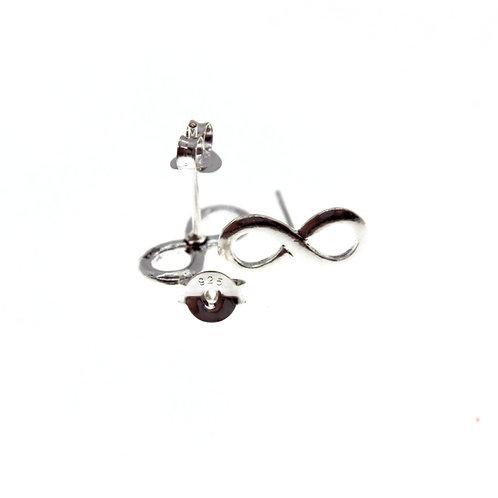 Infinity Earrings - 925 Sterling Silver
