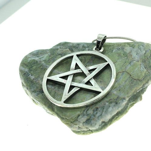 Woven Pentacle / Pentagram - 925 Sterling Silver Pendant