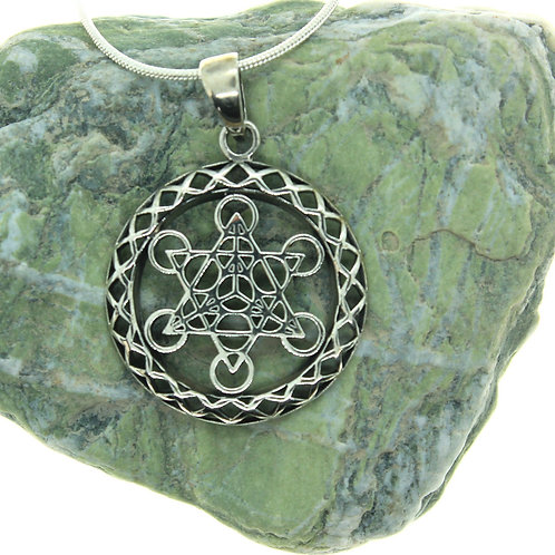 Metatron's Cube - 925 Sterling Silver Pendant