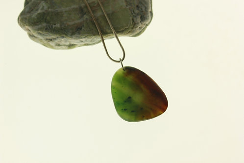 "Jade ""Earth & Fire"" Pendant"
