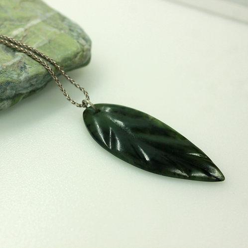 Jade Leaf Pendant - Large