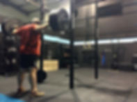 Chris smashing a squat pyramid today ran