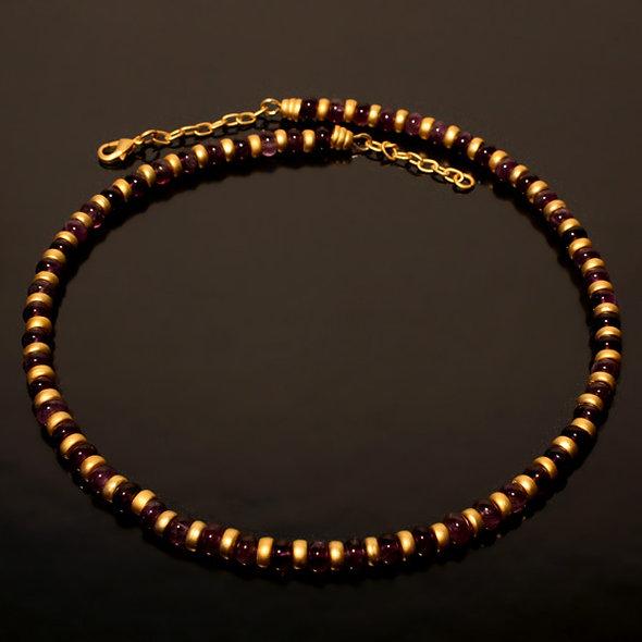 Halskette CL1988 mit Amethyst