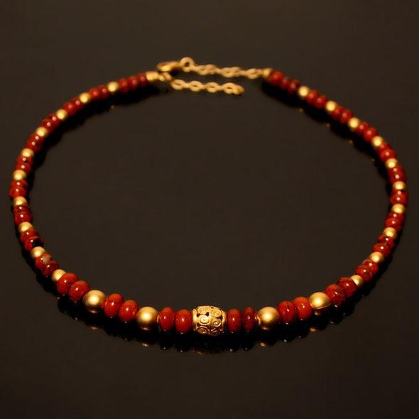 Halskette CL1952 Roter Jaspis