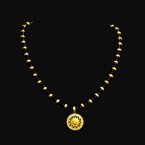 Halskette CL1988+DJ1300 mit Onyx
