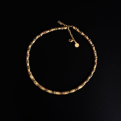Halskette CL1976 mit Unakite