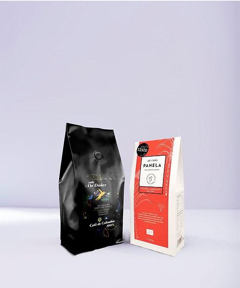 "250g Röstkaffee gemahlen Or´Doñez ""Colombia 100%""+ 250g Panela Vollrohrzucker"