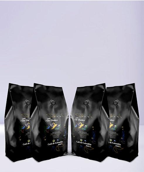 """4mal 250g Röstkaffee gemahlen  Or´Doñez """"Colombia 100%"""""""