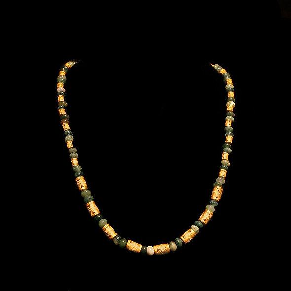 Halskette CL1976 mit Moosachat