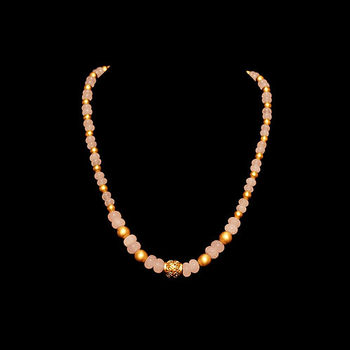 Halskette CL1952 Rosenquartz