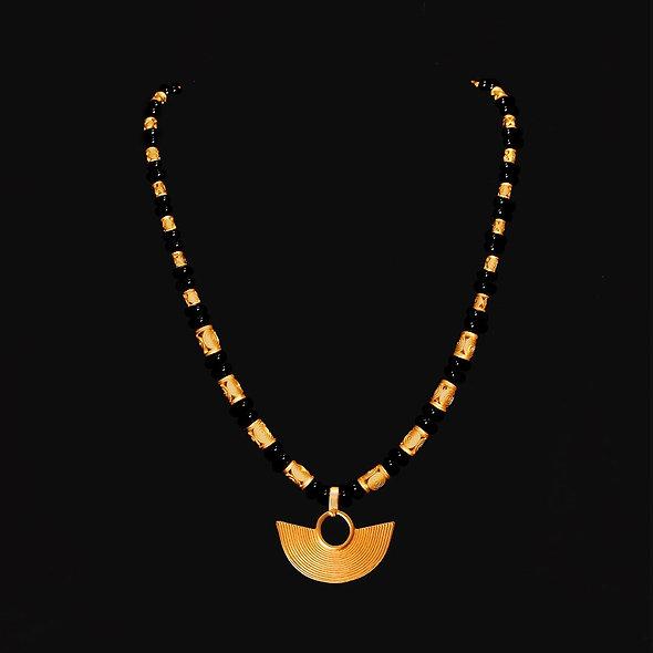 Halskette CL1976+DJ1010 mit Onyx