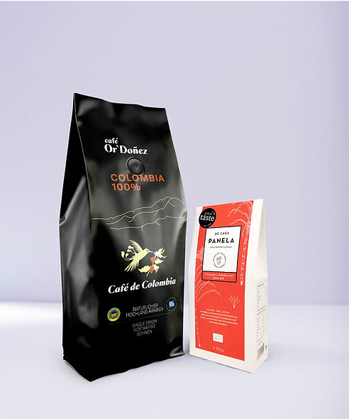 "1Kg Bohnenkaffee Or´Doñez ""Colombia 100%"" + 250g Panela Vollrohrzucker"