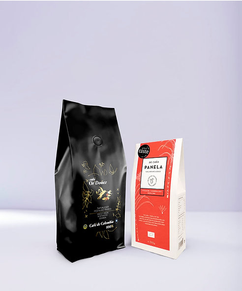 "500g Bohnenkaffee Or´Doñez  ""Colombia 100%""  + 250g Panela Vollrohrzucker"