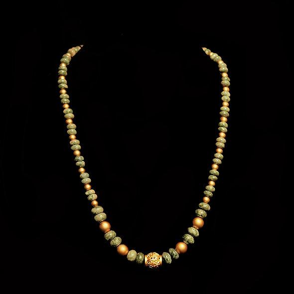 Halskette CL1952 mit Moosachat