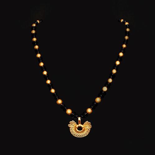 Halskette CL1952+DJ1325 mit Onyx