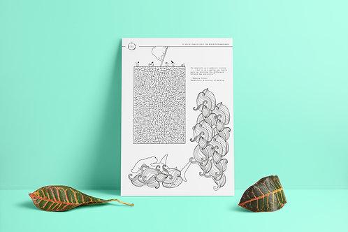 Labyrinth - colouring mandala and game sheet