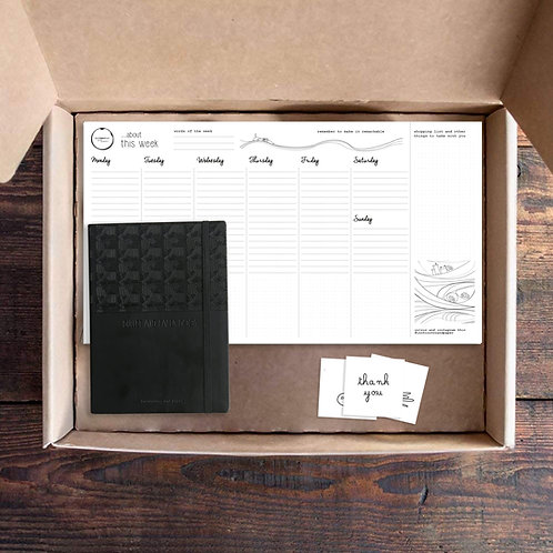 Box 4 - Never Too Organised Box - Bullet + Desk Planner
