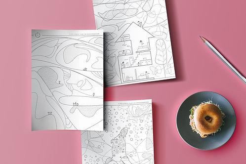 #iorestoacasa - Printable Mandala Colouring book