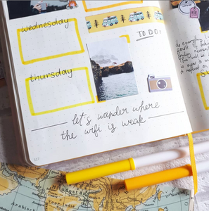 bullet journal, bujo, inchiostro and paper, stationery